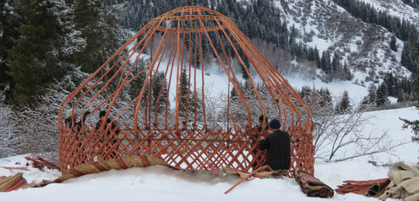 backcountry ski yurts in Irdyk valley kyrgyzstan
